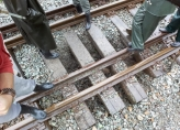 Lengthy repair work on the railway section in difficult weather conditions